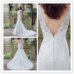 Hot Sale Back Button Wedding Dresses Lace Appliques Sequins Beads Crystal 2018 Women Lady Long Bridal Pageant Party Catwalk Gowns