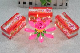 Wholesale Factory Single Layer Beautiful Shape Lotus Birthday Candle Music Singing Flower Type Candles Hot Sale ch