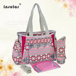 Wholesale Insular Canvas Baby Diaper Bags Multifunctional Bohemia Style Nappy Bags Mommy Bags