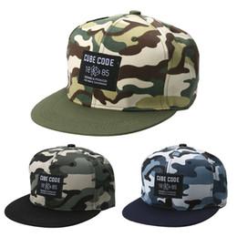 Descuento sombreros de camuflaje El nuevo sombrero de béisbol de la manera 2017 ajusta los sombreros DM # 6 del Snapback del camuflaje del sombrero de Hip-hop