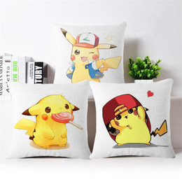 Wholesale 12 Style Pikachu Pillow Case Cover Poke Pillow Cases Sofa Cushion Pocket Monster Pillowcase Home Decor Best Gifts