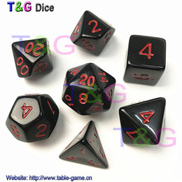 7pcs set High Quality Colorful Dice Set D4,D6,D8,D10,D10%,D12,D20 dungeons and dragons,novelty RPG Digital Dice