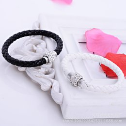 Our company is a Korean company which provide necklace bracelet Leather Bracelet is studded with diamonds