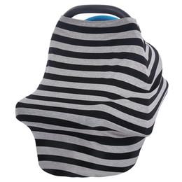 Multi-Use Stretchy Cotton Baby Nursing Breastfeeding Privacy Cover Scarf Blanket Stripe Infinity Scarf Baby Car Seat Cover nursing cover