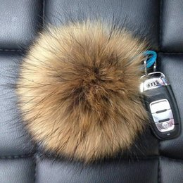 High-Quality Handmade Raccoon Fur Ball Fur Pompoms For Shoes Jewelry Cloth Mixed Size 6cm 8cm 10cm 12cm