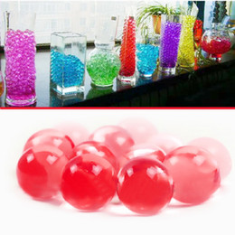 Wholesale Bag New Water Aqua Crystal Soil Wedding Gel Ball Beads Vase Centerpiece Crystal Soil Water Beads Bio Gel Ball