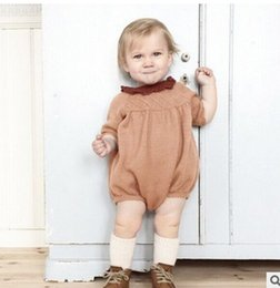 Wholesale baby costume Cute Autumn Sweet Knit Girl Romper Cute Long Sleeve Knitting Spring Toddler Onesie Fashion Infant Jumpsuit