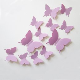 3D creative Butterfly Stickers DIY Butterfly Wedding room decoration gifts 96pieces Art Stickers