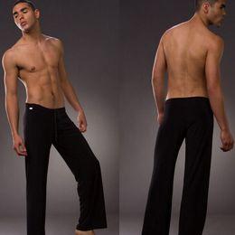 1pcs mens sleep bottoms leisure sexy sleepwear for men Manview yoga long pants panties underwear pants free shipping