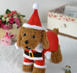 Wholesale Pet turned equipment Dog clothes Red Christmas dog standing equipment Pet clothing suits Fashion boutique gifts