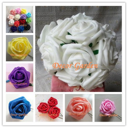 Wholesale 7CM PE Artificial Foam Roses For DIY Party Wedding Bouquet Centerpieces Wrist Roses Flowers Home Floral Decor