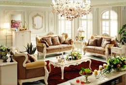 Wholesale new arrival hot selling high quality European antique living room sofa furniture genuine leather set