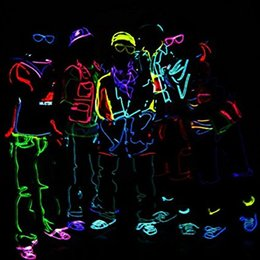 3M Flexible Neon Light Glow EL Wire Rope Tube Flexible Neon Light 10 Colors Car Dance Party Costume+Controller Christmas Holiday Decor Light