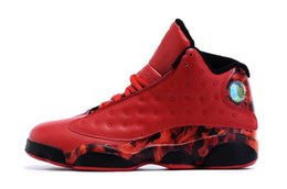 2016 or rouge Haute qualité de l'air rétro 13 XII ce qui est l'amour noir rouge hommes Chaussures de basket-ball XIII Rétro Rouge Discolor Or Noir Sport Sneakers Bottes or rouge promotion