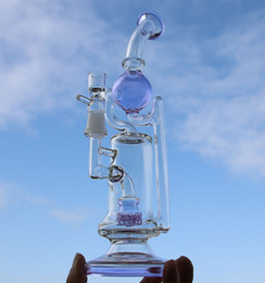 Wholesale Newest inch bong oil rig glass water pipes glass bongs glass recycler oil burner cost price
