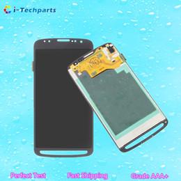 Promotion écrans lcd samsung Expédition gratuite de DHL, nouveau original pour l'affichage à cristaux liquides d'affichage à cristaux liquides de Samsung S4 et panneaux d'assemblage d'écran tactile de numériseur, blanc gris