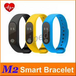Mi bracelet de bande à vendre-Moins cher 50pc M2 Smart Band Fitness Tracker Bracelet Smart Heart Rate Sport étanche Bluetooth Wristband Pour Android IOS PK Xiaomi Mi Band