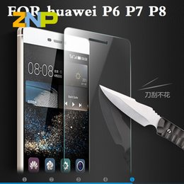 Wholesale H Tempered Glass For huawei Ascend P8 lite P8 P7 P6 Screen Protector Oleophobic Coating Explosion Proof Protective Film