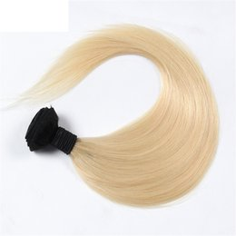 Free Shipping Brazilian Ombre Straight Hair Extensions 1pcs lot T1B 613 Blonde Dyeable 100% Virgin Unprocessed Human Hair Bundles
