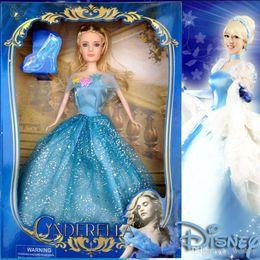 Muñecas bjd en Línea-Nueva muñeca de Cinderella Princesa Chica 12 pulgadas Muñecas Tangled nieve reina Blanca princesa Doll Girl regalo juguetes Juguetes articulados regalo de Navidad