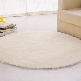 Wholesale 100cm Home Textile Fluffy Round Foam Rug Non Slip Shower Bedroom Mat Door Floor Carpet Round Rug Colors Available