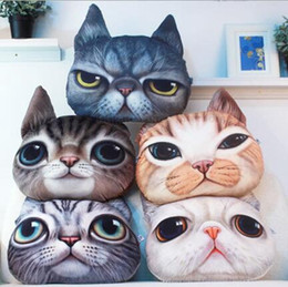 Wholesale 3D Animal Pillow Case Cats Dog Head Pillow Cover Meow Star Doge Cushion Cases Cat Dog Face Pillowcases Home Sofa Car Decor B1502