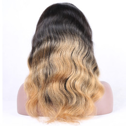 Top Quality Body Wave Ombre Color Remy Brazilian Hair Full Lace Human Hair Wigs for Black Women Hand Tied Lace Wigs Free Shipping