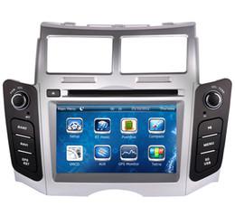 El jugador del sd para la televisión en venta-Reproductor de DVD del coche de la unidad principal 2-Din para Toyota Yaris 2005-2011 con la navegación del GPS Radio Bluetooth TV USB SD AUX 3G Audio Multimedia