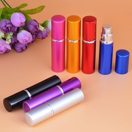 Free shipping 50pcs lot Mini Refillable Perfume Atomizer Bottle for Travel Spray Scent Pump Case 5ml,13 Color can choose
