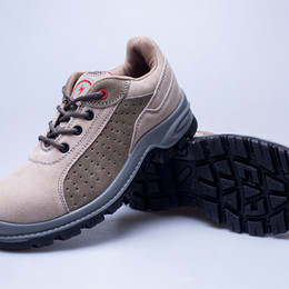 Men Suede Boots Work Shoes Safty Protective Shoes Steel Toe Breathable Anti smashing Piercing proof Wear-resisting