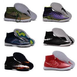 Wholesale 2017 Boys Superflys IC Indoor Soccer Shoes TF Turf CrIStiAnO RoNaLdO Cr7 High Ankle Football Boots Mens cleats