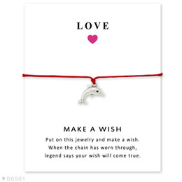 Wholesale Silver Tone Dolphins Charm Bracelets Bangles Gifts For Women Girls Adjustable Friendship Statement Jewelry With Card
