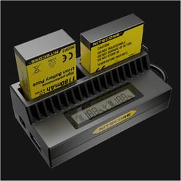 2017 usb gopro Nuevo Original Nitecore Gopro Hero3 UGP4 Hero4 cargador de batería 5V USB LCD Display para GoPro AHDBT-201 AHDBT-301 Baterías de iones de litio AHDBT-401 usb gopro en venta