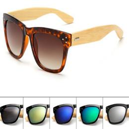 Wholesale DHL Wood Sunglasses Designer Natural Bamboo Vintage Mens Women Sunglass Eyewear Glasses Plastic Frame Summer Fashion Accessories for Men