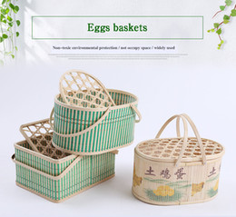 Wholesale Factory direct quality high price low environmental protection practical gift bamboo egg packaging basket storage box