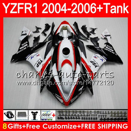 8Gift 23Color Body For YAMAHA YZF R 1 YZF 1000 YZFR1 04 05 06 red white 58HM22 YZF-R1000 YZF-R1 YZF1000 YZF R1 2004 2005 2006 Fairing kit