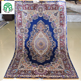Wholesale 3 x4 Antique Persian Silk Blue And Green Carpet Hand Knotted Turkish Oriental Rug Stores