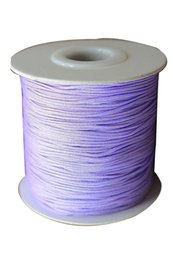 0.8mm Lavender Rattail Nylon Cord+Jewelry Accessories Making Macrame Rope Shamballa Bracelet Chinese Knot String Cord 200m=1Roll