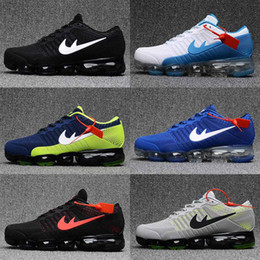 2017 or rouge Cheap Vapormax Plyknit Chaussures de course pour homme Triple Black Gold Vert Blanc Rouge Vapor Maxes 2018 Trainer Kpu Sport Sneakers Taille 7-13 budget or rouge