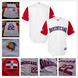 Wholesale Custom Men s WBC Dominican Republic Baseball Majestic White World Baseball Classic Replica Team Jersey