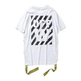Asian Size High Quality2017 New Off White T Shirt Men Women Tops Printed TShirt Hip Hop Tee Off-white 1:1 T-shirt Men Fashion