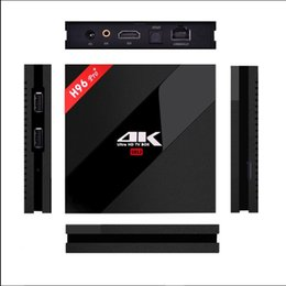 Amlogic android en Ligne-H96 PRO + TV BOX Amlogic S912 Octa Core ARM 2G / 16G Android 6.0 Smart TV Box 2.4G / 5.8G WIFI 4K