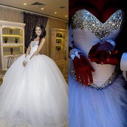 Robe De Mariage Robe De Mariage En Satin wedding rhinestones crystal gown promotion à partir de mariage strass robe de cristal fournisseurs