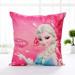 Wholesale Frozen Pillowcases Best Friend Sister Elsa Anna Square Throw Pillow Case Sofa Chair Cushion Cover Cartoon pillowcases Pillow Cover JF