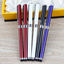 Wholesale hot sale handwriting pen tablet capacitance touch screen pen Capacitor metal business gift sign advertising marker multi function stylus pen