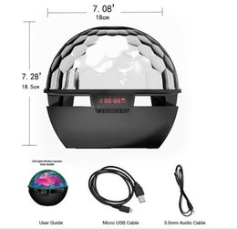 Wholesale Wireless Bluetooth speaker with led light colors suport for Mobile phone Micro SD card and Party bluetooth speaker