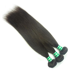 Brazilian Virgin Straight Hair Weaves, 3pcs Lot Brazilian Straight Hair Weft, Color Dark Brown, 12inch-30inch Free Shipping