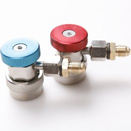 Wholesale uto Replacement Parts Air conditioning Installation Car Auto Freon R134A H L Quick Coupler Adapters Air Conditioning Refrigerant Adj