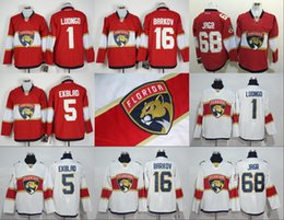 Wholesale 2017 Florida Panthers Jaromir Jagr Roberto Luongo Aleksander Barkov Aaron Ekblad Red white stitched Best Quality Mix Order