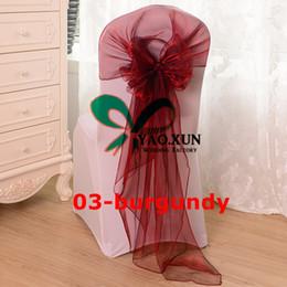 65cm*275cm Organza Chair Hood \ Sash Fit On Banquet Wedding Chair Cover